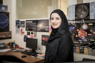 Sarah Al Amiri, the chair of the United Arab Emirates (UAE) Space Agency.
