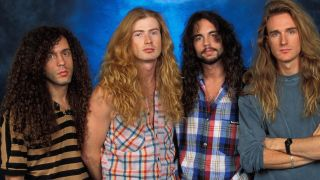 Megadeth with drummer Nick Menza