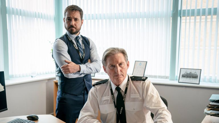 Martin Compston and Adrian Dunbar in BBC's Line of Duty