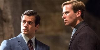 The Man From U.N.C.L.E Henry Cavill and Armie Hammer looking at something intriguing