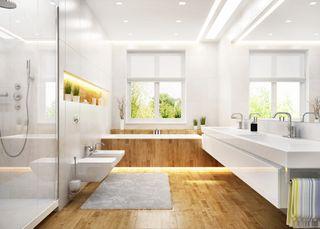 large spacious bathroom