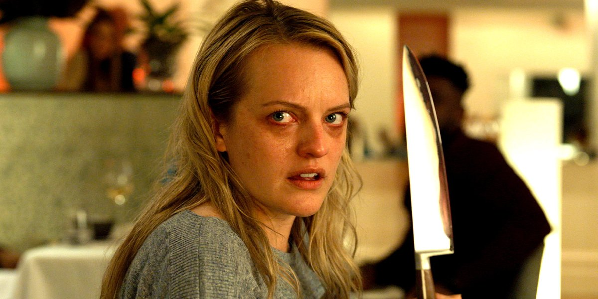 Cecelia Kass (Elisabeth Moss) stands accused in The Invisible Man