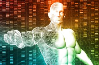 3D illustration of enhanced human