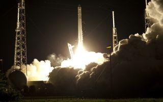 Engines Ignite for SpaceX's Falcon 9 Launch
