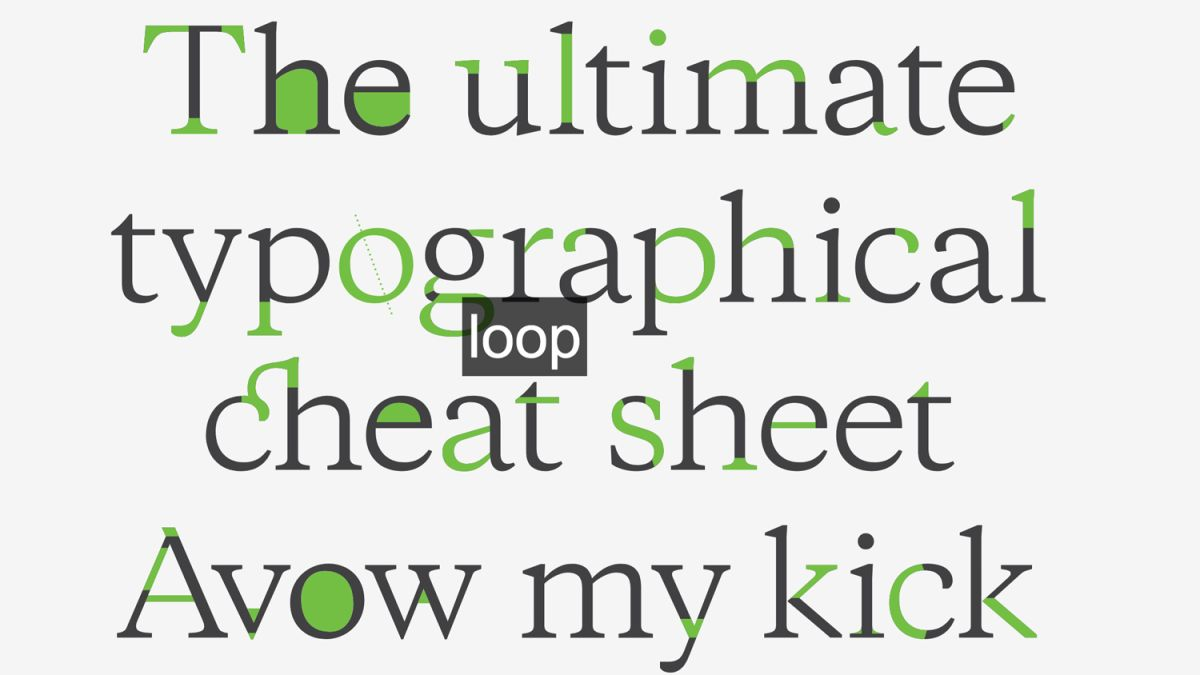 The only typography cheat sheet you'll ever need