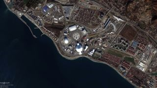 Earth from Space: 2014 Winter Olympics Village