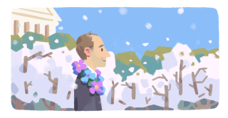 A Google Doodle depiction of Frank Kameny, an astronomer who became a leading legal advocate for the LGBTQ community.