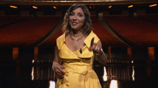 Linda Yaccarino during NBCUniversal's 2021 upfront