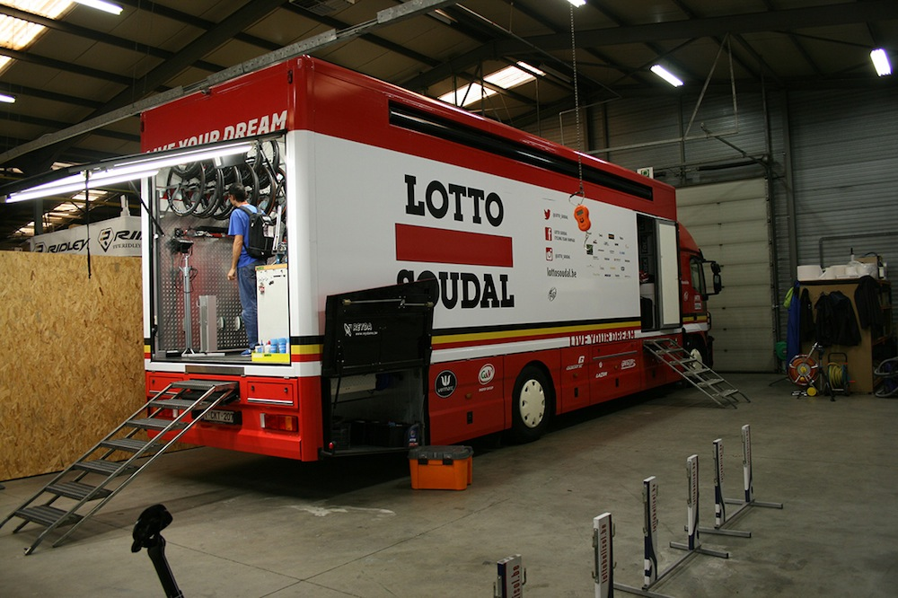 Inside Lotto Soudal S Service Course Cycling Weekly