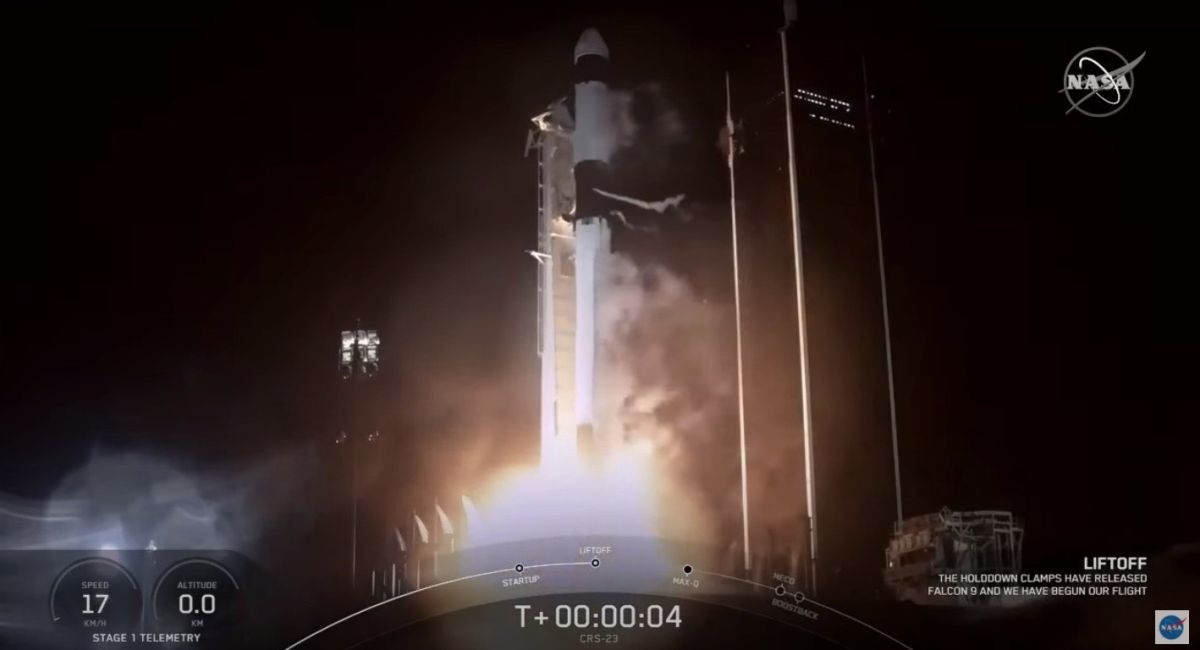 SpaceX launches Dragon cargo capsule to space station, nails rocket landing at sea