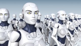 Cyber army of robots.