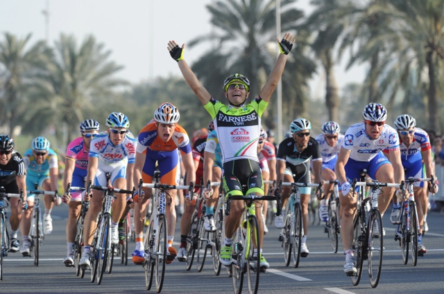 Andrea Guardini wins stage, Tour of Qatar 2011, stage five