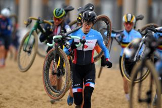 Maghalie Rochette, during the UCI CycloCross World Championships Oostende 2021, won second day of racing at Charm City Cross
