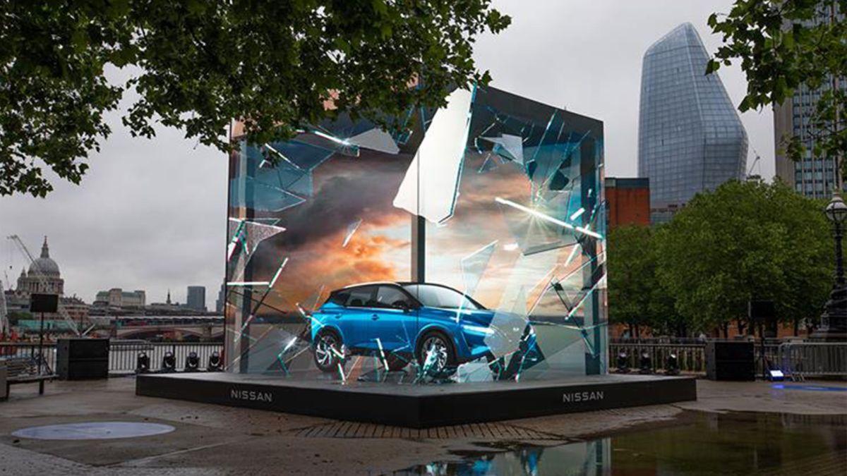 Nissan unveils breathtaking 3D optical illusion ad