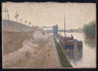"""Paul Signac painted """"Quai de Clichy. Temps gris"""" in 1887."""