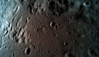 """This is the last photo that the Israeli moon lander named """"Beresheet"""" took before it crashed into the surface of the moon in a failed landing attempt last week. At the time, the spacecraft was about 9 miles (15 kilometers) above the lunar surface, just a few moments before mission control lost contact with the spacecraft."""