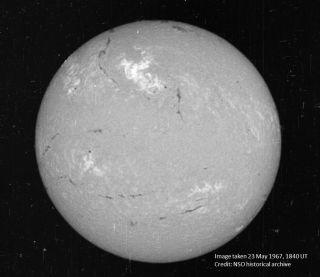 Solar Flare of May 23, 1967