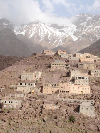 The village of Arroumd in the High Atlas, Morocco