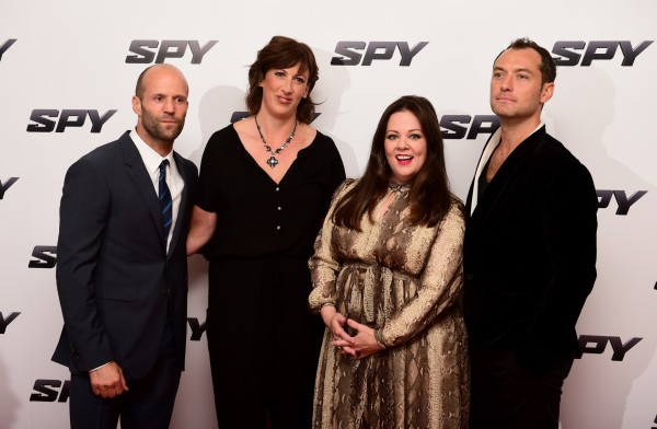 Jason Statham, Miranda Hart, Melissa McCarthy and Jude Law at the Spy premiere