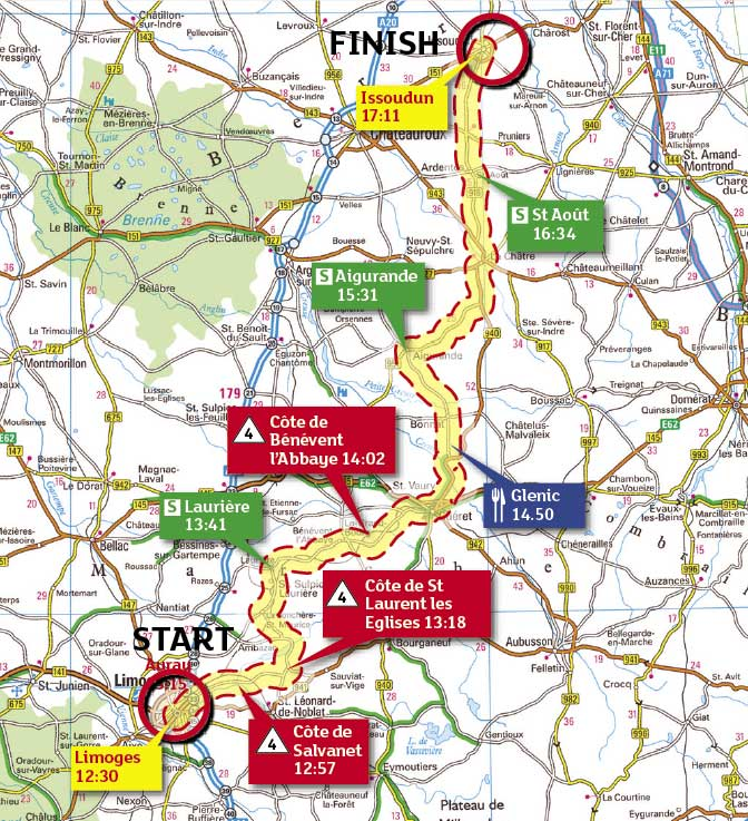 Tour de France 2009, stage 10 map