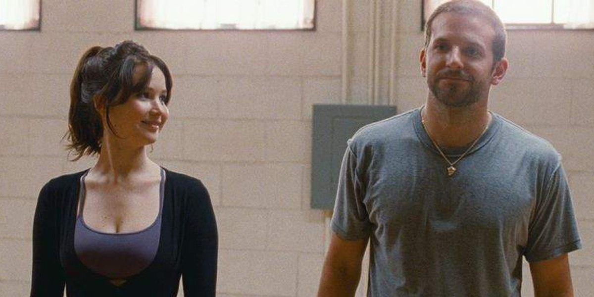Jennifer Lawrence and Bradley Cooper in Silver Linings Playbook