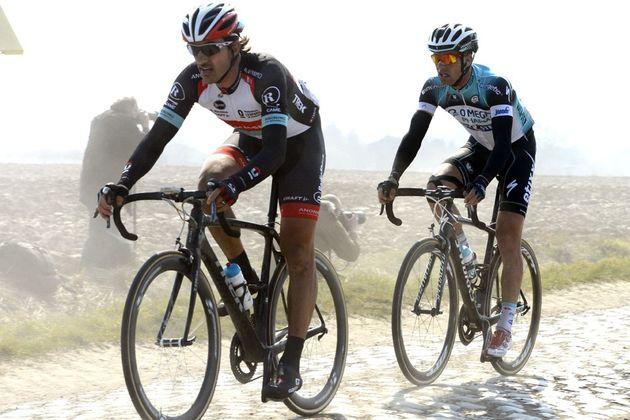 Fabian Cancellara and Zdenek Stybar, Paris-Roubaix 2013