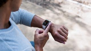 Person using Apple Watch ECG app
