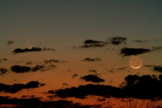 Comet Pan-STARRS and the Moon Over Salem, Missouri