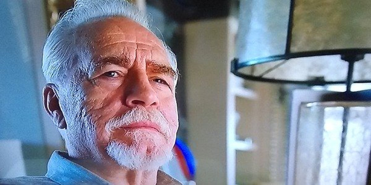 Brian Cox as Logan Roy smile smirk in Succession Season 2 finale