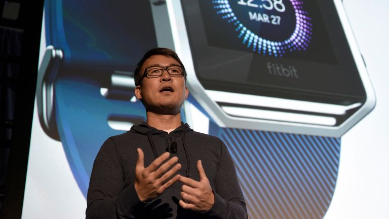 James Park one of the co-founders of Fitbit speaking at an event