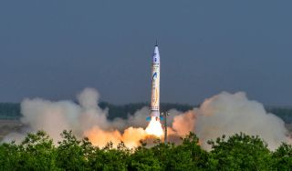 The private spaceflight company OneSpace in China launched its first rocket, the OS-X, on May 17, 2018. It is China's first privately built rocket.