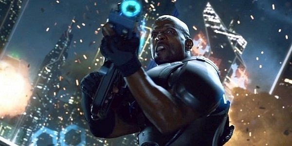 Terry Crews in a Crackdown 3 ad.