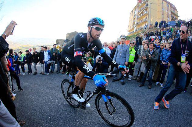 Bradley Wiggins on Stage 5 of the 2014 Tirreno Adriatico