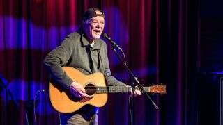 Rusty Young performs during an evening with Rusty Young from Poco at The GRAMMY Museum on February 8, 2018 in Los Angeles, California.