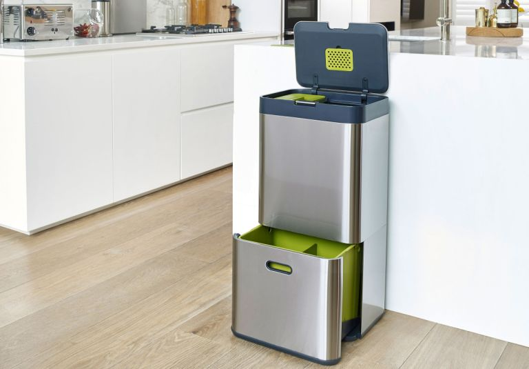 best kitchen bins: lifestyle image of bin in kitchen