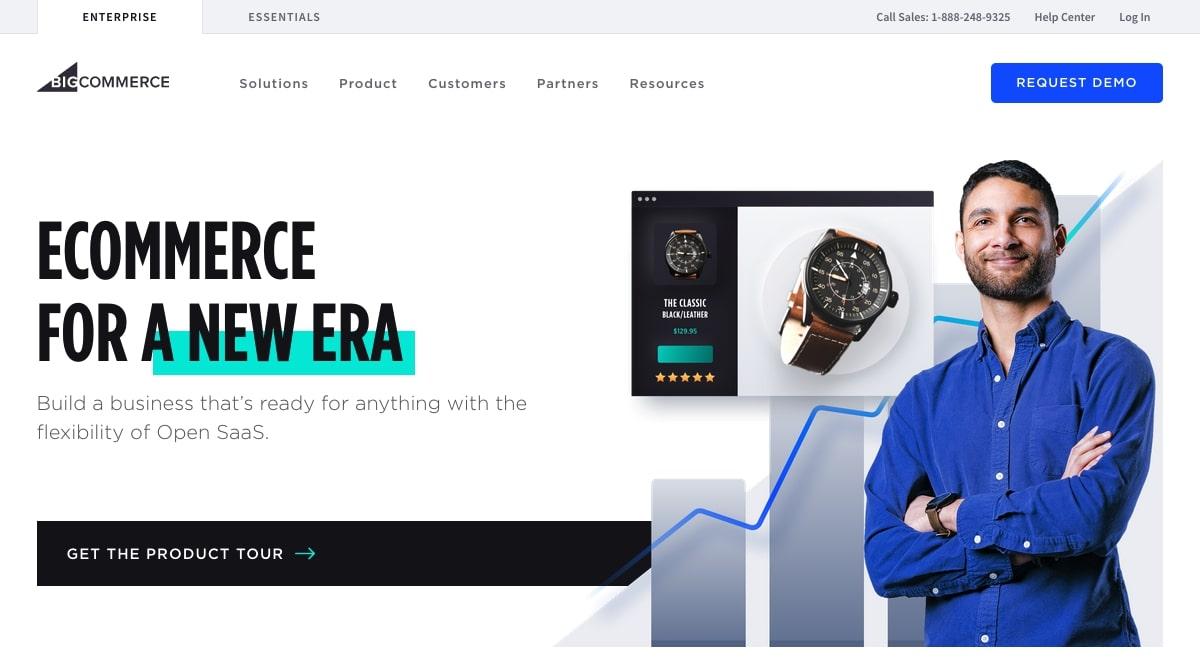 BigCommerce's homepage