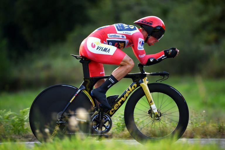 Primoz Roglic on stage 21 of the 2021 Vuelta a España