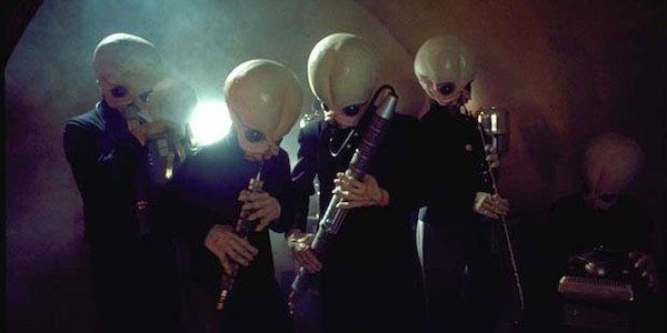 Mos Eisley band performing in Star Wars: A New Hope