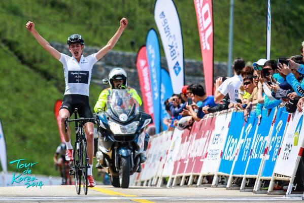 Hugh Carthy wins stage seven of Tour of Korea 2014