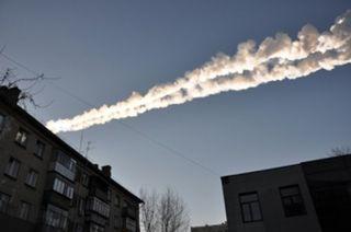 Meteor trail in Russia
