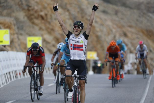 Edvald Boasson Hagen wins stage two of the 2016 Tour of oman
