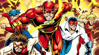 image of DC super speedsters by Mike Wieringo