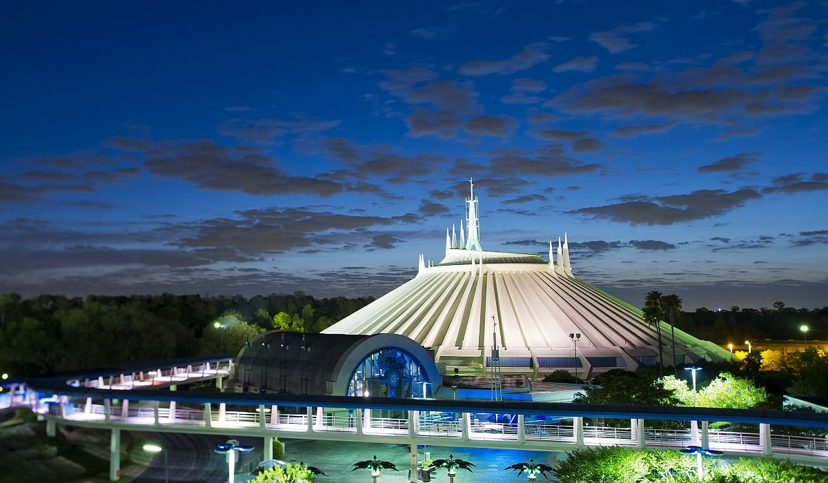 Space Mountain exterior at Walt Disney World