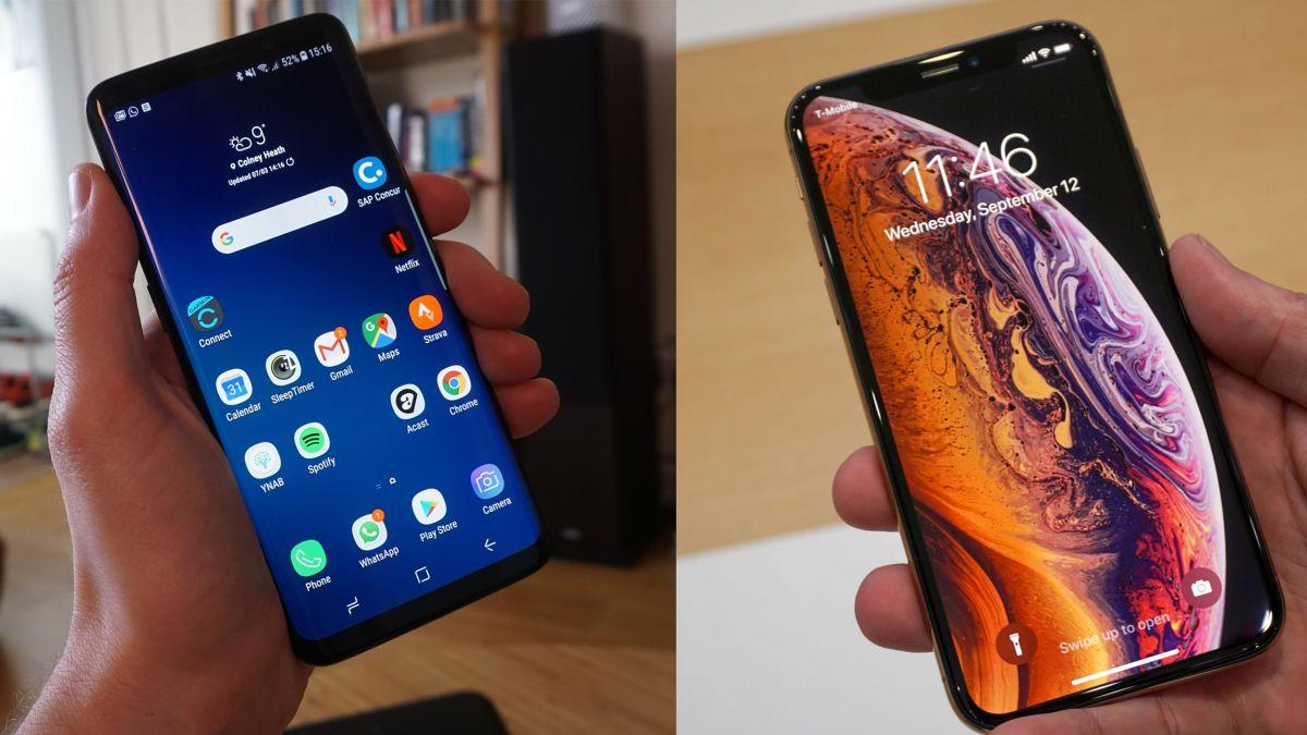 iPhone XS vs Samsung Galaxy S9