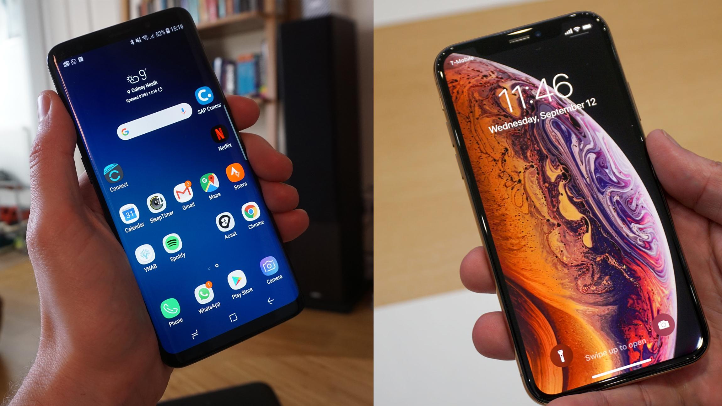 iPhone XS vs Samsung Galaxy S9   TechRadar