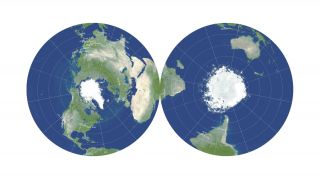 This double-sided pancake map is the most accurate flat map of Earth ever created.