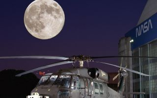 Rascal Helicopter And Moon