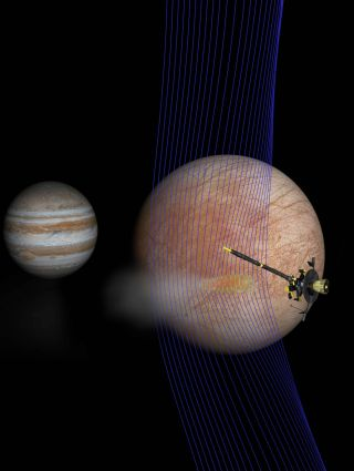Galileo probe at Europa