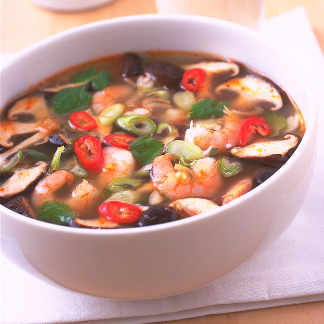 Hot and Sour Tiger Prawn Soup