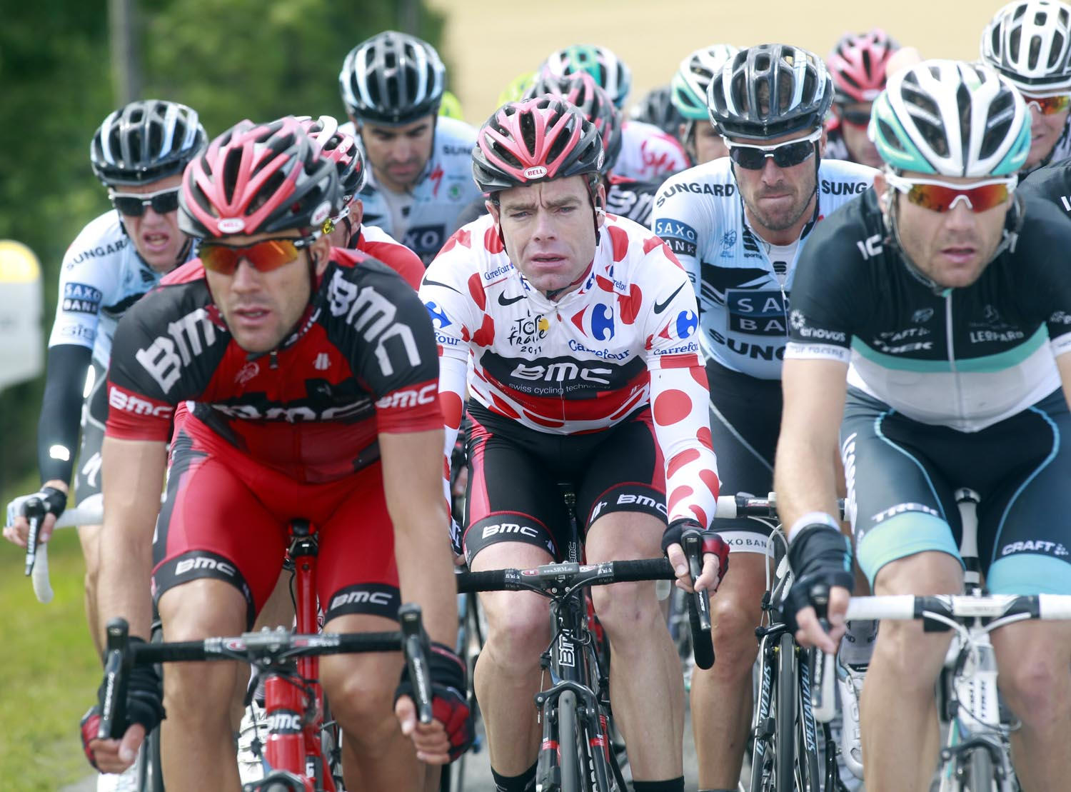 Cadel Evans, Tour de France 2011, stage six